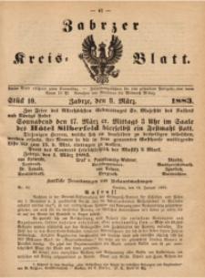 Zabrzer Kreis-Blatt, 1883, St. 10