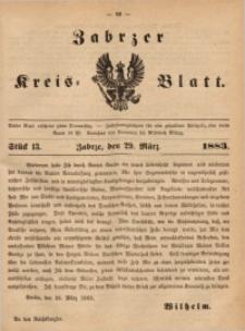 Zabrzer Kreis-Blatt, 1883, St. 13