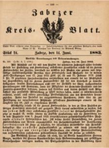 Zabrzer Kreis-Blatt, 1883, St. 24