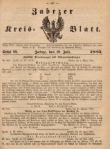 Zabrzer Kreis-Blatt, 1883, nr 29