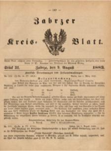 Zabrzer Kreis-Blatt, 1883, St. 32