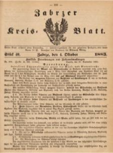 Zabrzer Kreis-Blatt, 1883, St. 40