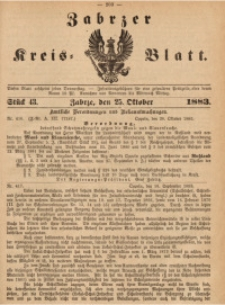 Zabrzer Kreis-Blatt, 1883, St. 43