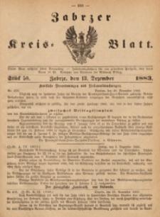 Zabrzer Kreis-Blatt, 1883, St. 50