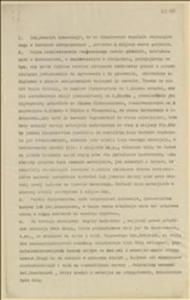 Memorandum w sprawie baraków w Oświęcimiu dla Ministerstwa Handlu i Przemysłu