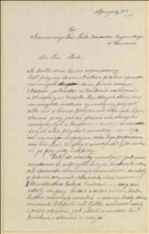 List do Kazimierza Czapińskiego, Posła Sejmu Rzeczypospolitej Polskiej w Warszawie w sprawie bezrobocia w fabryce metalowej w Sporyszu, Sporysz, 04.05.1925 r.