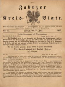 Zabrzer Kreis-Blatt, 1897, St. 27
