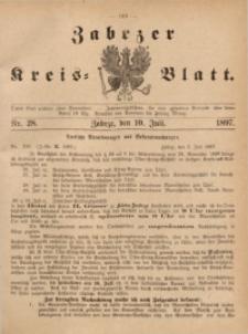 Zabrzer Kreis-Blatt, 1897, St. 28