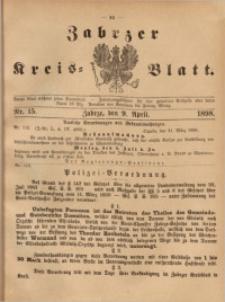 Zabrzer Kreis-Blatt, 1898, St. 15