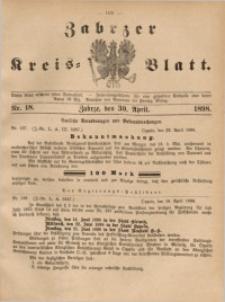 Zabrzer Kreis-Blatt, 1898, St. 18