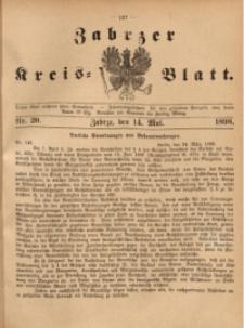 Zabrzer Kreis-Blatt, 1898, St. 20