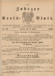 Zabrzer Kreis-Blatt, 1898, St. 28