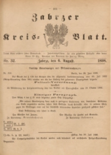 Zabrzer Kreis-Blatt, 1898, St. 32