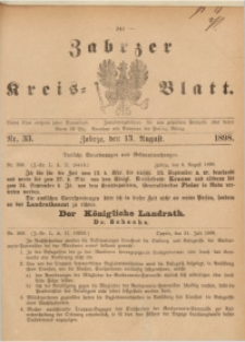 Zabrzer Kreis-Blatt, 1898, St. 33