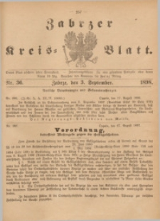 Zabrzer Kreis-Blatt, 1898, St. 36
