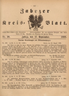 Zabrzer Kreis-Blatt, 1898, St. 38