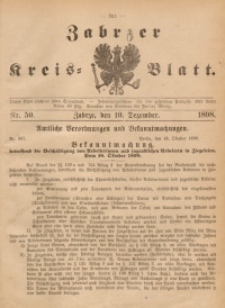 Zabrzer Kreis-Blatt, 1898, St. 50