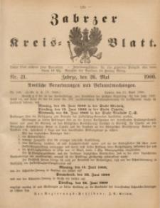 Zabrzer Kreis-Blatt, 1900, St. 21