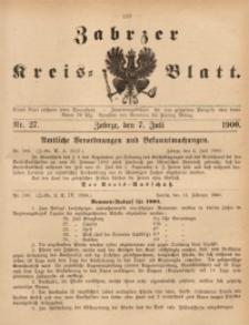 Zabrzer Kreis-Blatt, 1900, St. 27