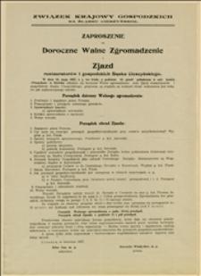 Zaproszenie i program zjazdu restauratorów i gospodzkich Śląska Cieszyńskiego