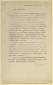 Pismo z odezwą w sprawie uregulowania praw słuchaczy Wyższej Szkoły Gospodarstwa Wiejskiego w Cieszynie - Cieszyn, 15.01.1926 r.