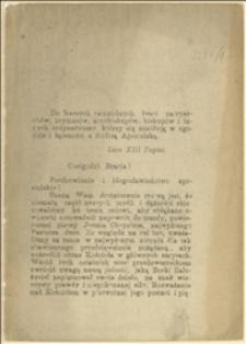Fragment encykliki papieża Leona XIII
