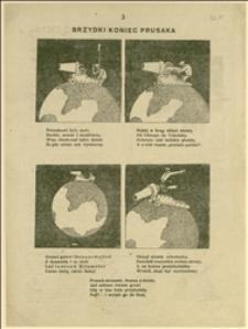 Brzydki koniec Prusaka... - kartka z humorystycznego, nieokreślonego czasopisma