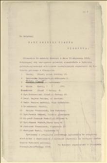 Pismo Komitetu Obywatelskiego w Cieszynie do Rady Gminnej w Cieszynie ze zgłoszeniem kandydatów (15 osób) do Wydziału gminnego w Cieszynie - Cieszyn, 07.02.1919