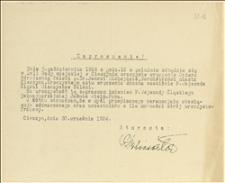 Zaproszenie na uroczystości wręczenia Orderu Odrodzenia Polski burmistrzowi Cieszyna J. Michejdzie w dniu 05.10.1924 r. - Cieszyn, 30.09.1924 r.