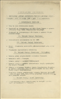 """""""Porządek dzienny 3. zwyczajnego jawnego posiedzenia Wydziału gminnego miasta Cieszyna z dnia 15. lutego 1926..."""""""