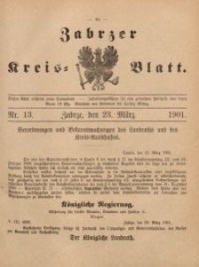 Zabrzer Kreis-Blatt, 1901, St. 13