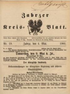 Zabrzer Kreis-Blatt, 1901, St. 19