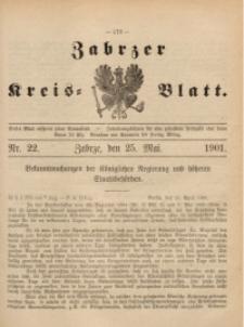 Zabrzer Kreis-Blatt, 1901, St. 22