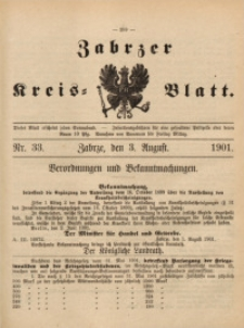 Zabrzer Kreis-Blatt, 1901, St. 33