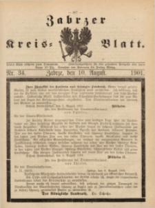 Zabrzer Kreis-Blatt, 1901, St. 34