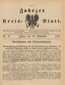 Zabrzer Kreis-Blatt, 1901, St. 48