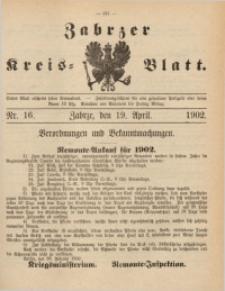 Zabrzer Kreis-Blatt, 1902, St. 16