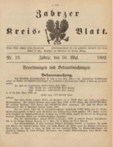 Zabrzer Kreis-Blatt, 1902, St. 19