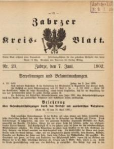 Zabrzer Kreis-Blatt, 1902, St. 23