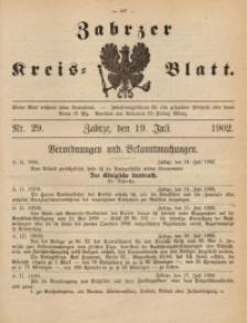 Zabrzer Kreis-Blatt, 1902, St. 29
