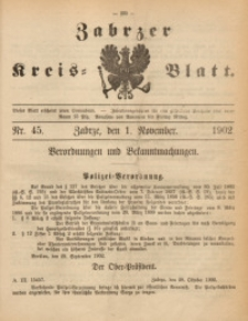 Zabrzer Kreis-Blatt, 1902, St. 45