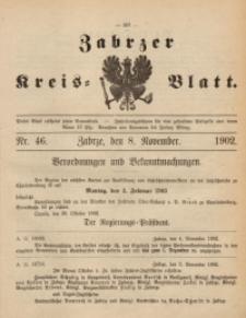 Zabrzer Kreis-Blatt, 1902, St. 46