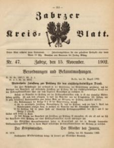 Zabrzer Kreis-Blatt, 1902, St. 47
