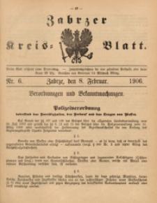 Zabrzer Kreis-Blatt, 1906, St. 6