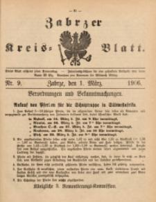 Zabrzer Kreis-Blatt, 1906, St. 9