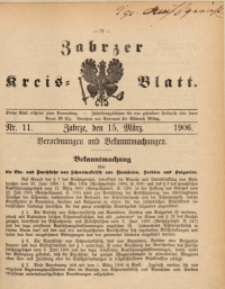 Zabrzer Kreis-Blatt, 1906, St. 11