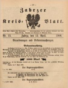 Zabrzer Kreis-Blatt, 1906, St. 15