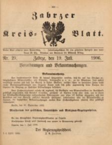 Zabrzer Kreis-Blatt, 1906, St. 29