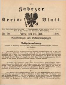 Zabrzer Kreis-Blatt, 1906, St. 30