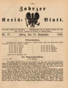 Zabrzer Kreis-Blatt, 1906, St. 37